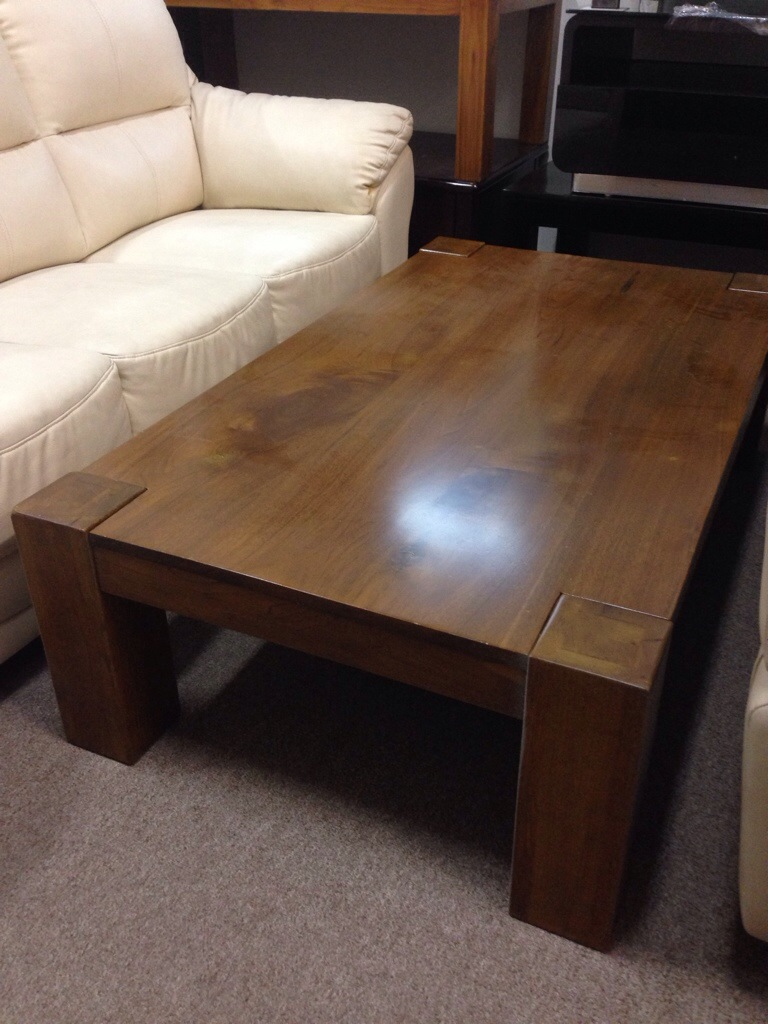 solid teak coffee table henry furnishing furniture