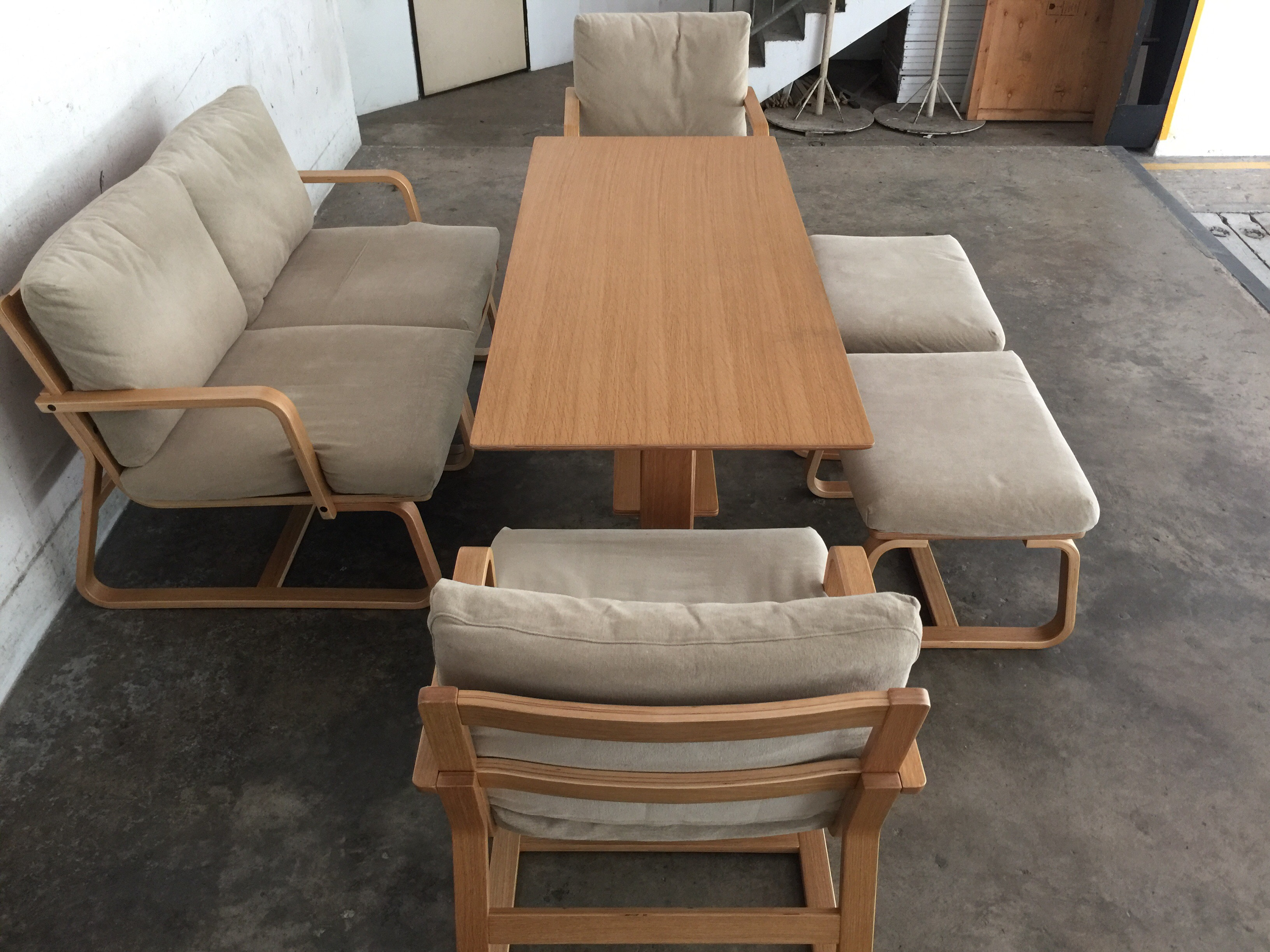 Japanese Style Dining Living Set Henry Furnishing Furniture Rental In Singapore Since 1994
