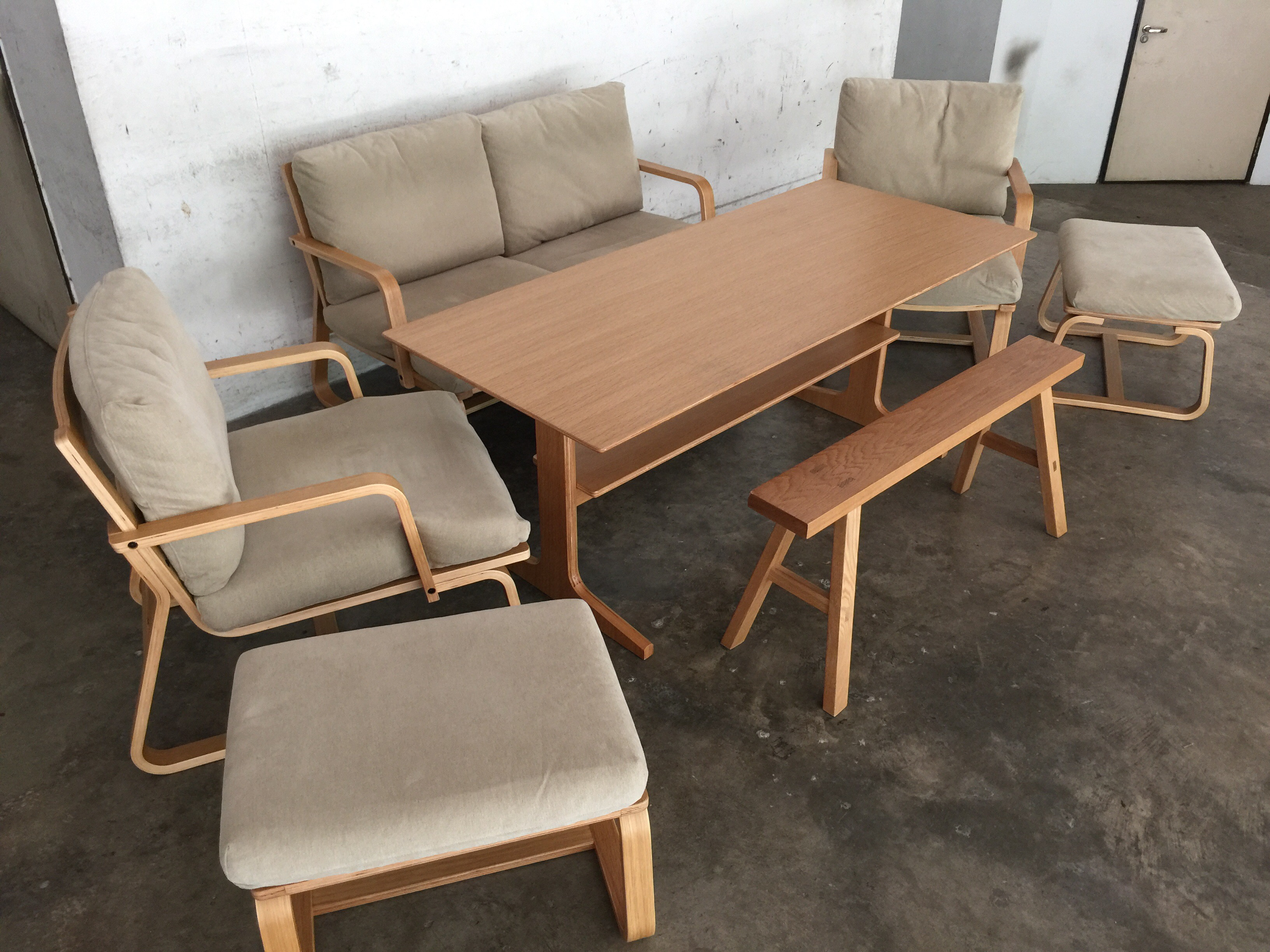 Japanese style dining living set henry furnishing for Furniture rental japan